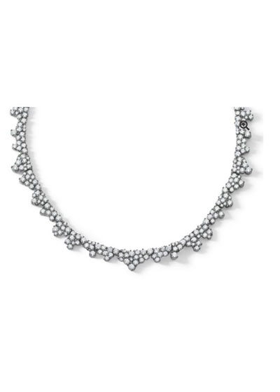 Confetti Necklace in 18K White Gold & White Diamonds, 10.99 carats