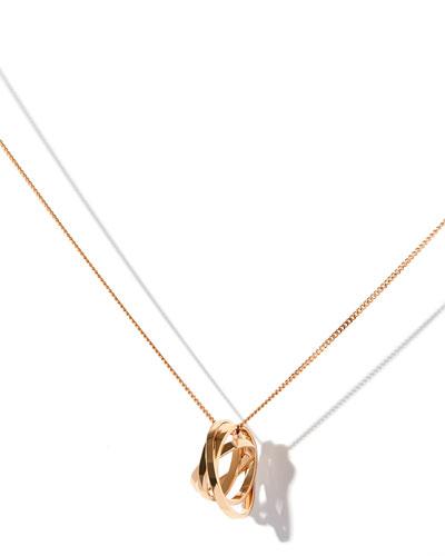 Technical Berbère Pendant Necklace in 18K Rose Gold