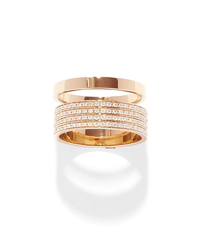 Technical Berbère Diamond Band Ring in 18K Gold