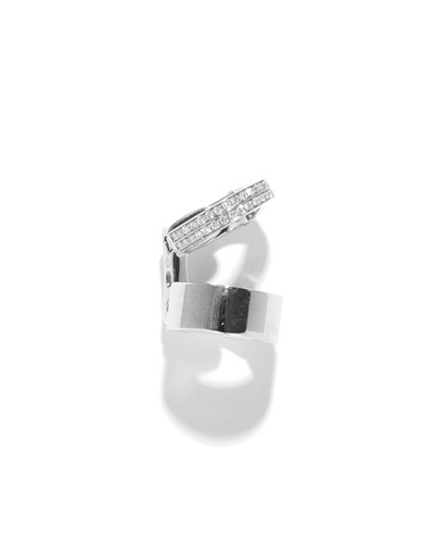 Single Berbère Double-Cuff Earring with Diamonds, 0.12tdcw