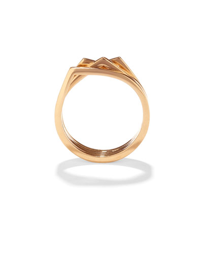 Antifer Four-Row Ring in 18K Gold
