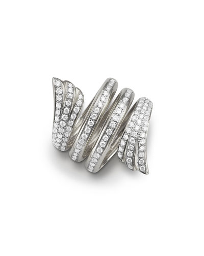 Repossi Single Berbère Double-Cuff Earring with Diamonds, 0.12tdcw