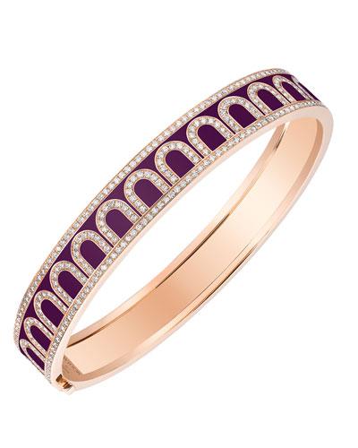 L'Arc de Davidor 18k Rose Gold Diamond Bangle - Med. Model, Aubergine