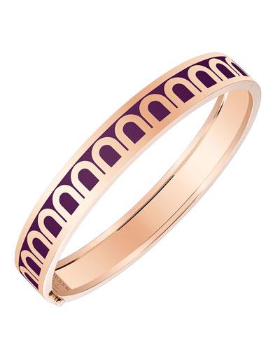 L'Arc de Davidor 18k Rose Gold Bangle - Med. Model, Aubergine, 7