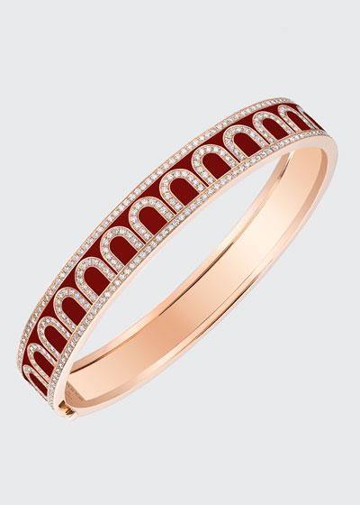 L'Arc de Davidor 18k Rose Gold Diamond Bangle - Med. Model, Bordeaux