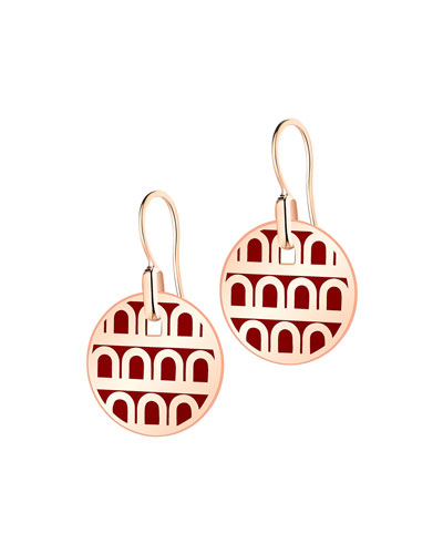 L'Arc de Davidor 18k Rose Gold Drop Earrings - Petite Model, Bordeaux