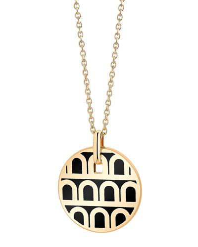 L'Arc de Davidor 18k Gold Pendant Necklace - Petite Model, Caviar