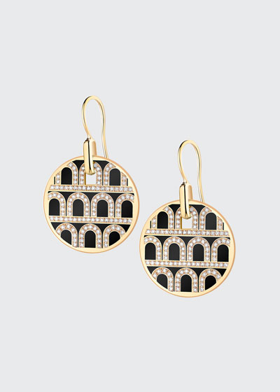 L'Arc de Davidor 18k Gold Diamond Drop Earrings - Grand Model, Caviar