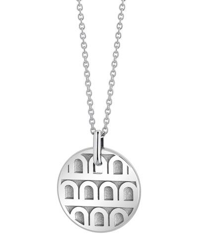 L'Arc de Davidor 18k White Gold Pendant Necklace - Petite Model