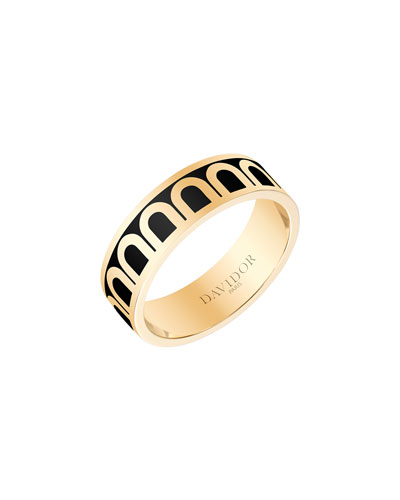 L'Arc de Davidor 18k Gold Ring - Med. Model, Caviar, Sz. 6