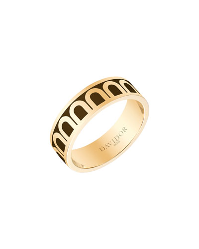L'Arc de Davidor 18k Gold Ring - Med. Model, Cognac, Sz. 6