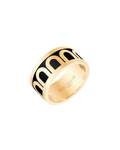 L'Arc de Davidor 18k Gold Ring - Grand Model, Caviar, Sz. 7.5