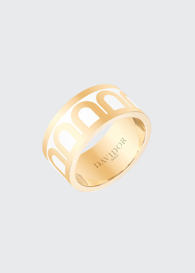L'Arc de Davidor 18k Gold Ring - Grand Model, Niege, Sz. 7
