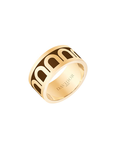 L'Arc de Davidor 18k Gold Ring - Grand Model, Cognac, Sz. 6