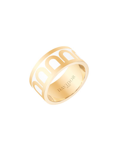 L'Arc de Davidor 18k Gold Ring - Grand Model, Niege, Sz. 7.5