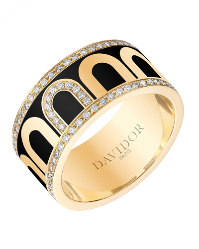 L'Arc de Davidor 18k Gold Porta Diamond Ring - Grand Model, Caviar, Sz. 7.5