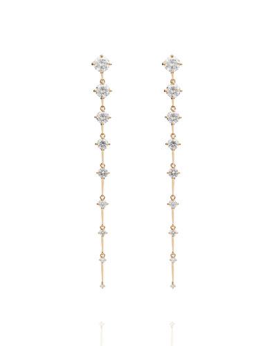 Sequence Long 18k Diamond Earrings