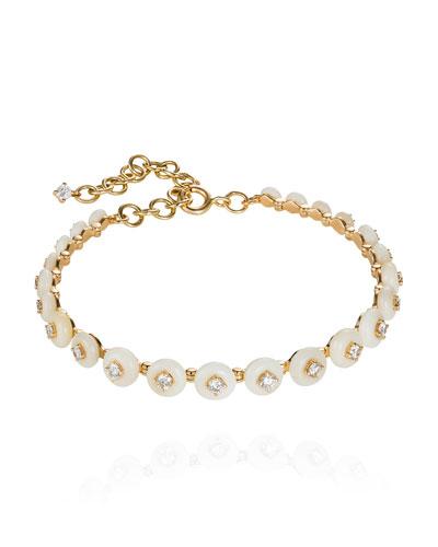 Surrounding 18k Tagua Seed & Diamond Bracelet