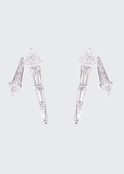 Energy 18k White Gold Diamond Stud Earrings