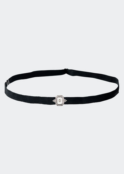 Universe 18k White Gold Enamel & Diamond Choker