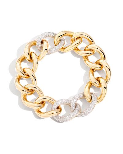 Tango Curb Link Bracelet with Diamonds