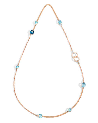 NUDO 18k Long Topaz & Diamond Necklace, 35