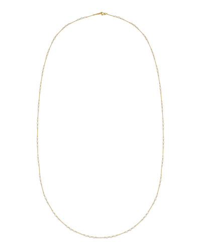 Three's a Charm Necklace in 18K Yellow Gold & White Diamonds, 37