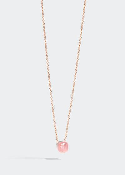 Nudo Pink Doublet Pendant Necklace