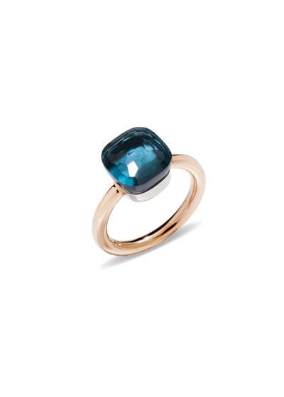 Nudo 18k Rose Gold London Blue Topaz Ring