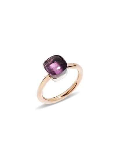 Nudo 18k Rose Gold & Amethyst Mini Ring, Size 56