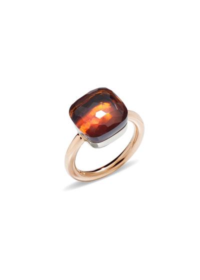Nudo Grande Rose Gold & Madeira Quartz Ring