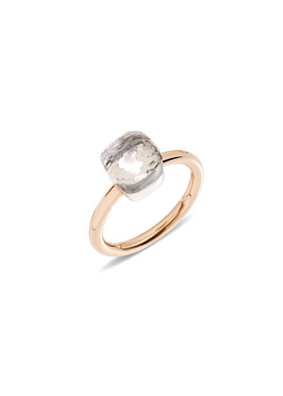 Nudo Mini Rose Gold & White Topaz Ring