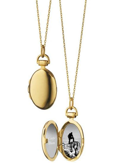 Anna 18k Gold Petite Locket Necklace, 17