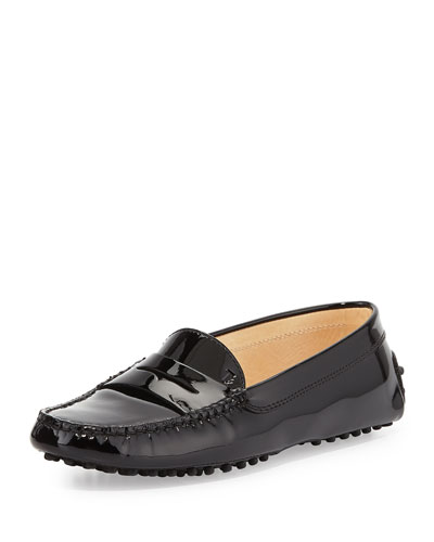 Winter Gommini Driving Moccasin, Black