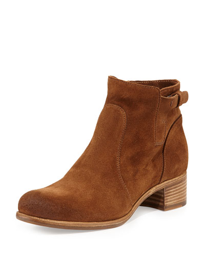 Viola Tabbed Suede Ankle Boot