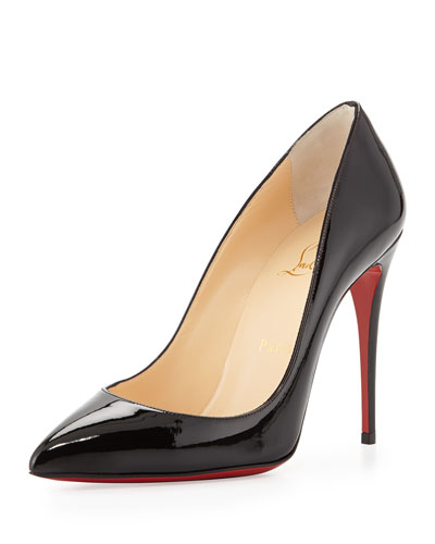Pigalle Follies Point-Toe Red Sole Pump, Black