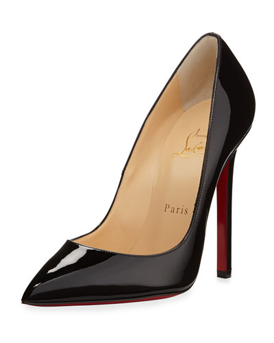 Pigalle Patent Leather Red Sole Pump, Black