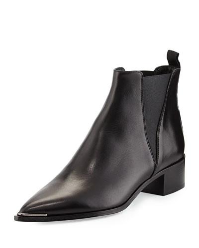 Jensen Pointy-Toe Ankle Boot, Black
