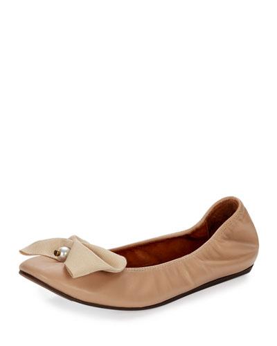 Pearly Bow Ballerina Flat