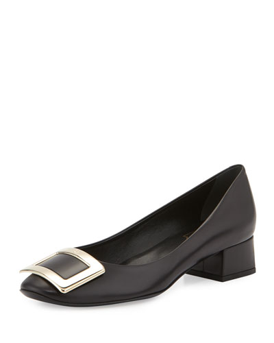 Belle de Nuit Leather Pump, Black