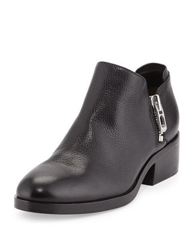 Alexa Side-Zip Ankle Bootie, Black