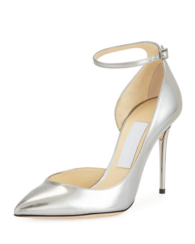 Lucy Half-d'Orsay Metallic Pump, Steel