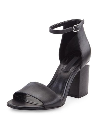 Abby Tilt-Heel City Sandal, Black