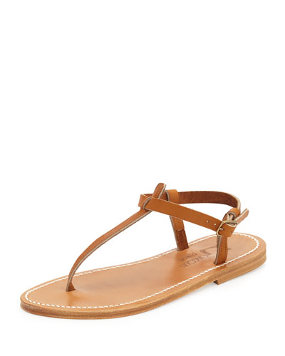 Picon Flat Thong Sandal, Natural