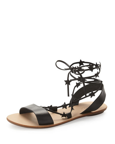 Starla Leather Gladiator Sandal, Black