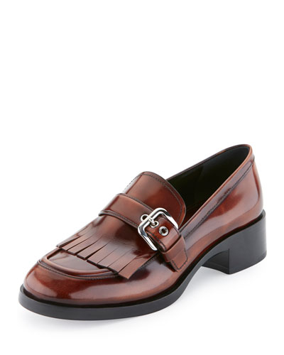 Burnished Patent Kiltie Loafer