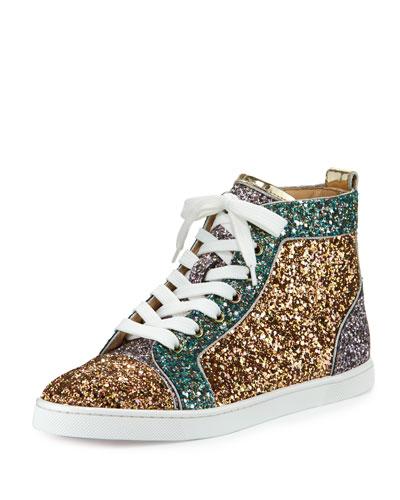 Bip Bip Glittered High-Top Sneaker, Multi