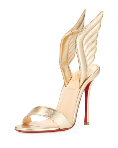 Samotresse Wings Red Sole Sandal, Gold