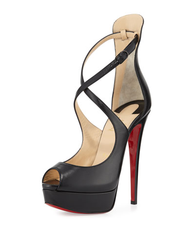 Marlenalta Leather 150mm Red Sole Pump, Black