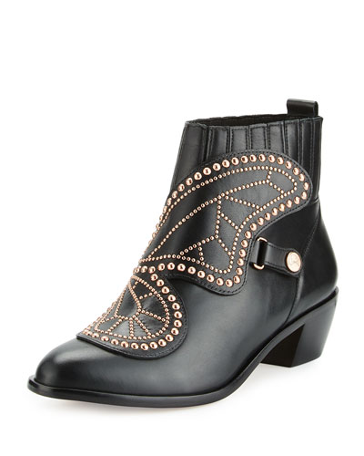 Karina Butterfly Bootie, Black